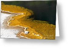 Emerald Pool Yellowstone National Park Greeting Card