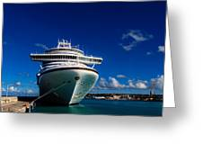 Emerald Princess Docked In Barbados Greeting Card