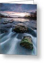 Emerald Rock Greeting Card by Davorin Mance