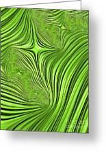 Emerald Scream Greeting Card