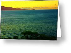 Emerald Sea Greeting Card