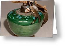 Emerald Wave Greeting Card