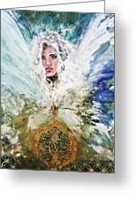 Emerging Angel Of Light Greeting Card
