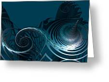 Emerging From The Depth Greeting Card