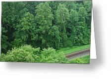 Emerging Tracks Greeting Card