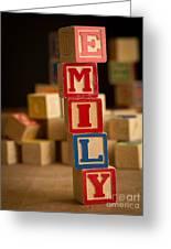 Emily - Alphabet Blocks Greeting Card