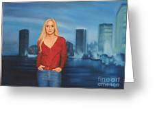 Emily  Miami Skyline Greeting Card