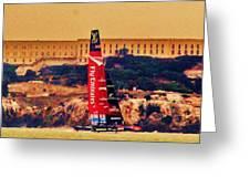 Emirates At Alcatraz Greeting Card