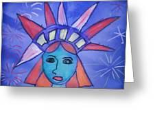 Emma's Lady Liberty Greeting Card