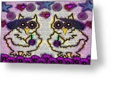 Emo Owls Greeting Card