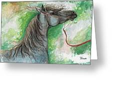 Emon Polish Arabian Horse 1 Greeting Card