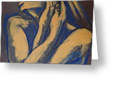 Emotional - Female Nude Portrait Greeting Card
