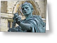 Emperor Constantine Greeting Card