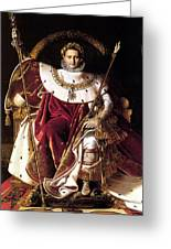 Emperor Napoleon I On His Imperial Throne Greeting Card