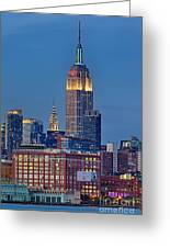 Empire And Chrysler Buildings Greeting Card
