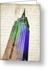 Empire State Building Greeting Card by Aged Pixel