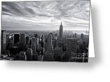 Empire State Building And Midtown Manhattan Black And White Greeting Card