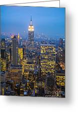 Empire State Building And Midtown Manhattan Greeting Card