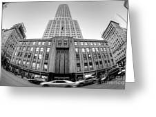 Empire State Building In Black And White Greeting Card
