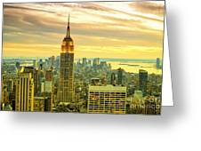 Empire State Building In The Evening Greeting Card by Sabine Jacobs