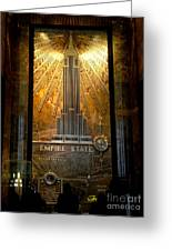Empire State Building - Magnificent Lobby Greeting Card