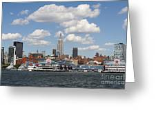 Empire State From The Water Greeting Card