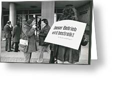 Employees Of Printing - Offices On Strike Throughout Greeting Card