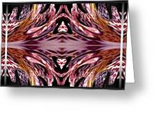 Empress Abstract Triptych Greeting Card
