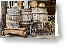 Emptied Barrels Greeting Card