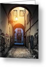 Empty Alley Greeting Card