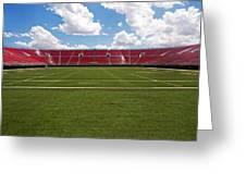 Empty American Football Stadium Greeting Card