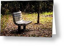 Empty Bench Meditation Spot Greeting Card