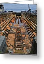 Empty Dry Dock Greeting Card
