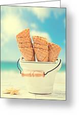 Empty Ice Cream Cones Greeting Card