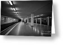 empty Potsdamer Platz s-bahn station Berlin Germany Greeting Card by Joe Fox