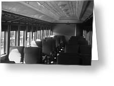 Empty Railway Coach Greeting Card