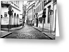 Empty Street In Prague Greeting Card
