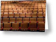 Empty Theater Chairs In Ventura Arts Greeting Card