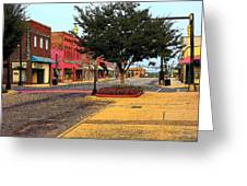 Empty Town Greeting Card