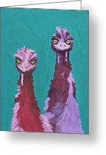 Emu Watch Greeting Card