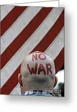War Protest Greeting Card