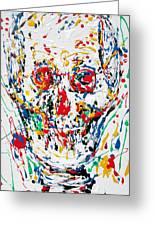 Enamels Skull Painting Greeting Card