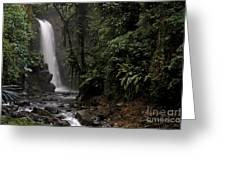 Encantada Waterfall Costa Rica Greeting Card