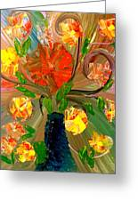 Enchanted Flowers. Greeting Card by Pretchill Smith