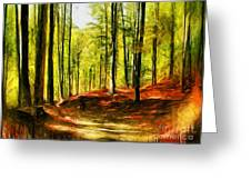 Enchanted Forest - Drawing  Greeting Card