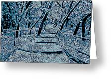 Enchanted Forest In The Winter Greeting Card