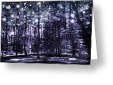 Enchanted Plum Forest Greeting Card
