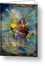 Angel Tarot Card Enchanted Princess Greeting Card