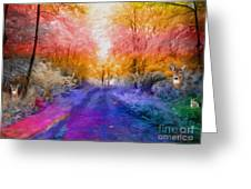 Enchanted Rainbow Forest  Greeting Card