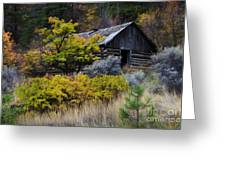 Enchanted Spaces Cabin In The Woods 2 Greeting Card